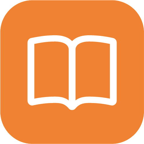 Book icon orange